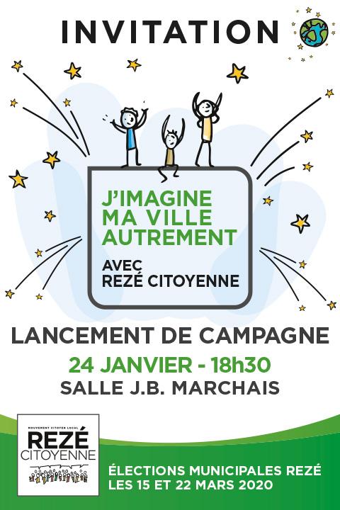 invitation lancement de campagne Rezé Citoyenne