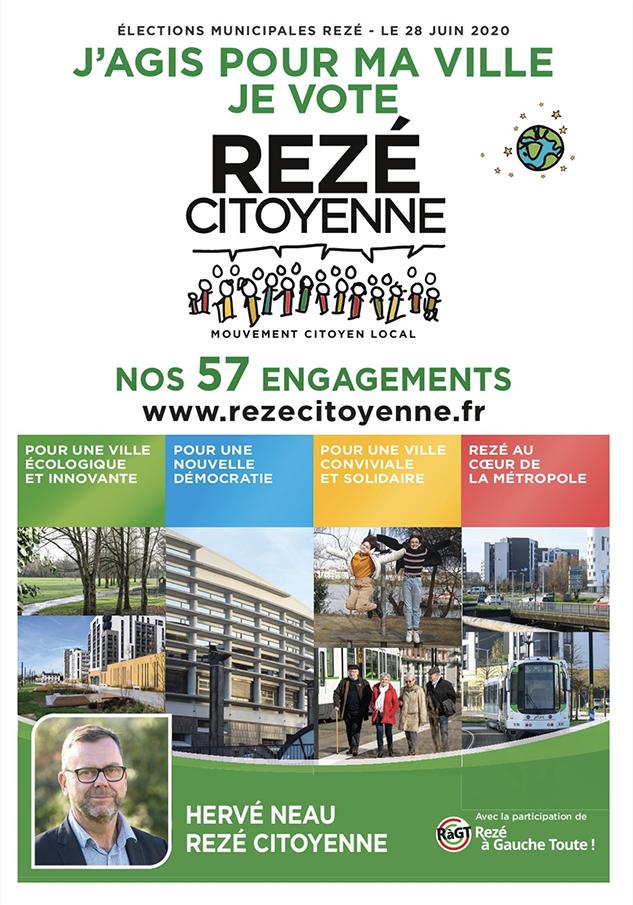 Couverture programme Rezé Citoyenne